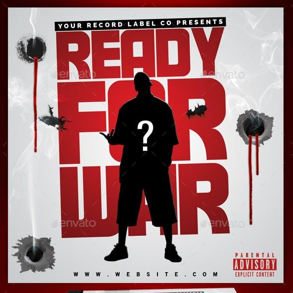 Mixtape Hip Hop CD Cover - Ready For War