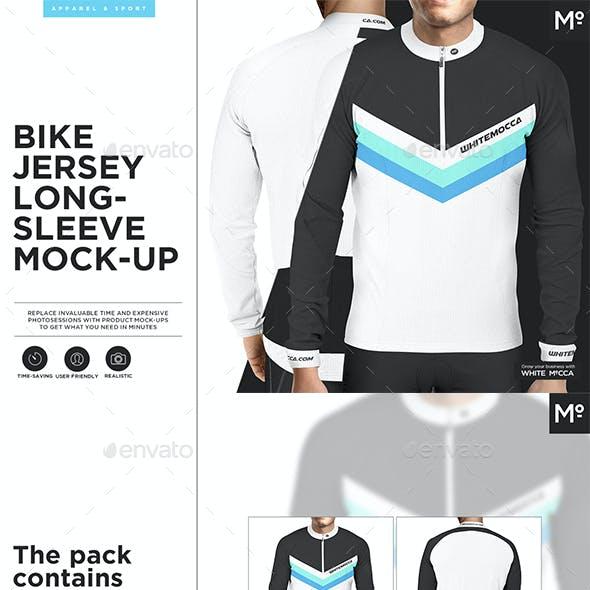 Bike Jersey Longsleeve Mock-up