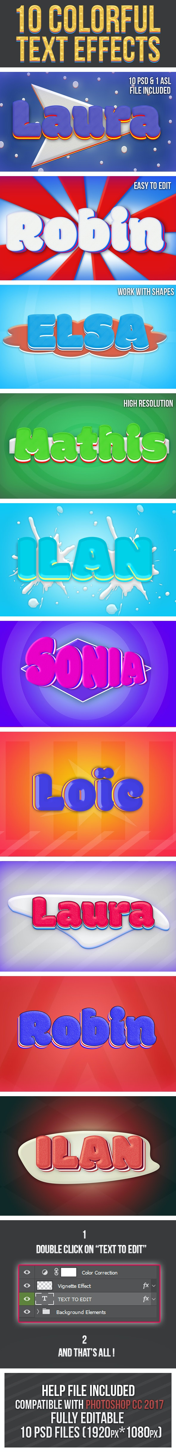 Colorful Text Effects 3 - Text Effects Styles