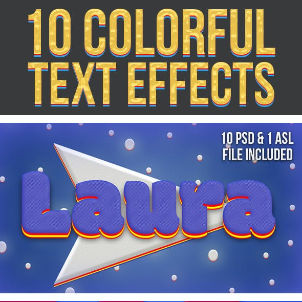 Colorful Text Effects 3