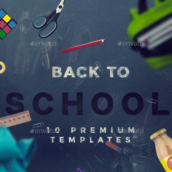 Back To School - 10 Hero Image Templates