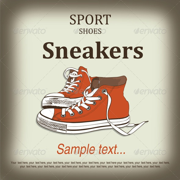 Sport shoes sneakers - Sports/Activity Conceptual