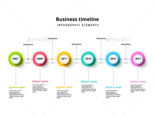 Timeline infographic elements template - Infographics
