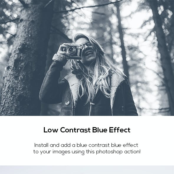 Low Contrast Blue Effect