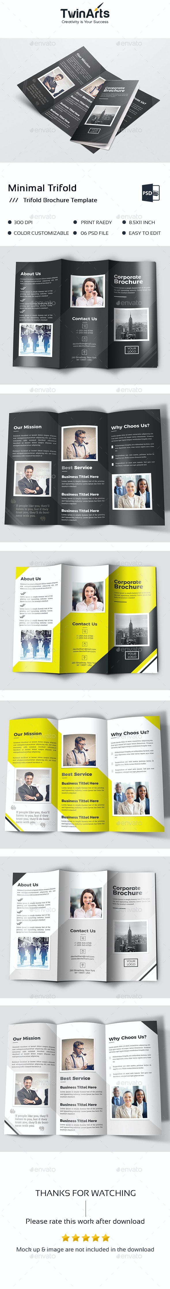 Minimal Trifold - Brochures Print Templates