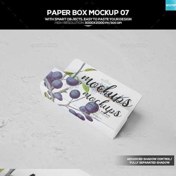 Paper Box Mockup 07