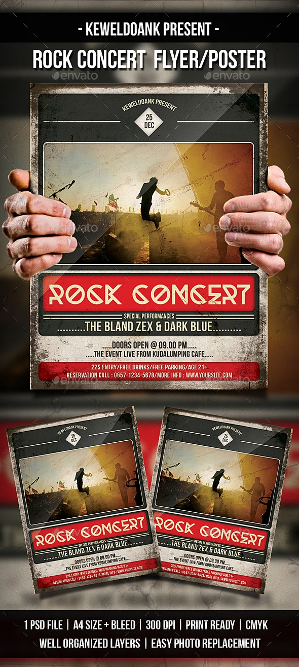 Rock Concert Flyer / Poster - Concerts Events