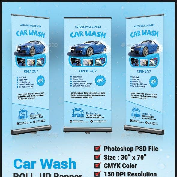 Car Wash Roll Up Banner - Signage