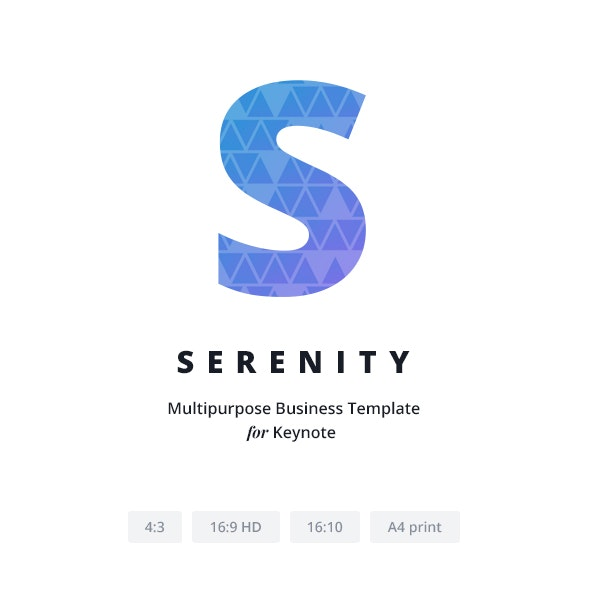 Serenity Keynote - Keynote Templates Presentation Templates