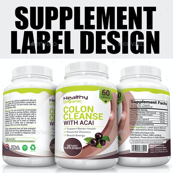 Supplement Label Template Vol-08