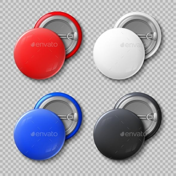 Advertise Blank Color Round Metal Buttons