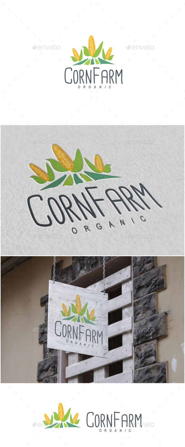 Corn Farm Logo - Food Logo Templates