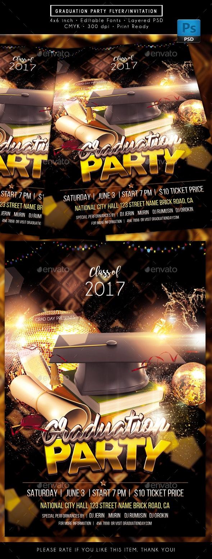 Graduation Party Flyer - Events Flyers