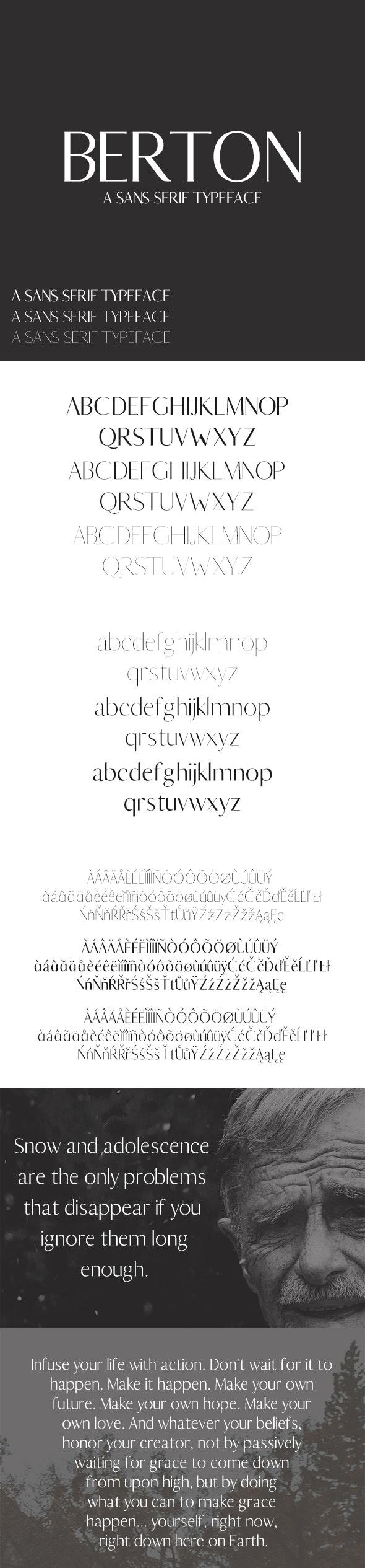 Berton Sans Serif Typeface - Sans-Serif Fonts