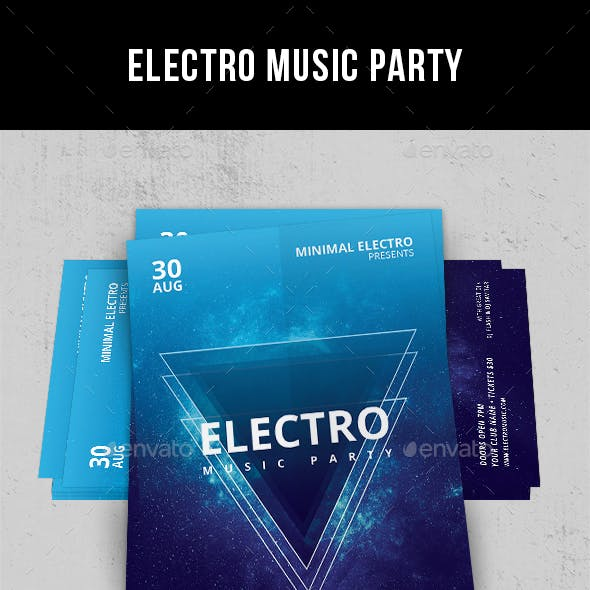 Electro Music Party - Flyer