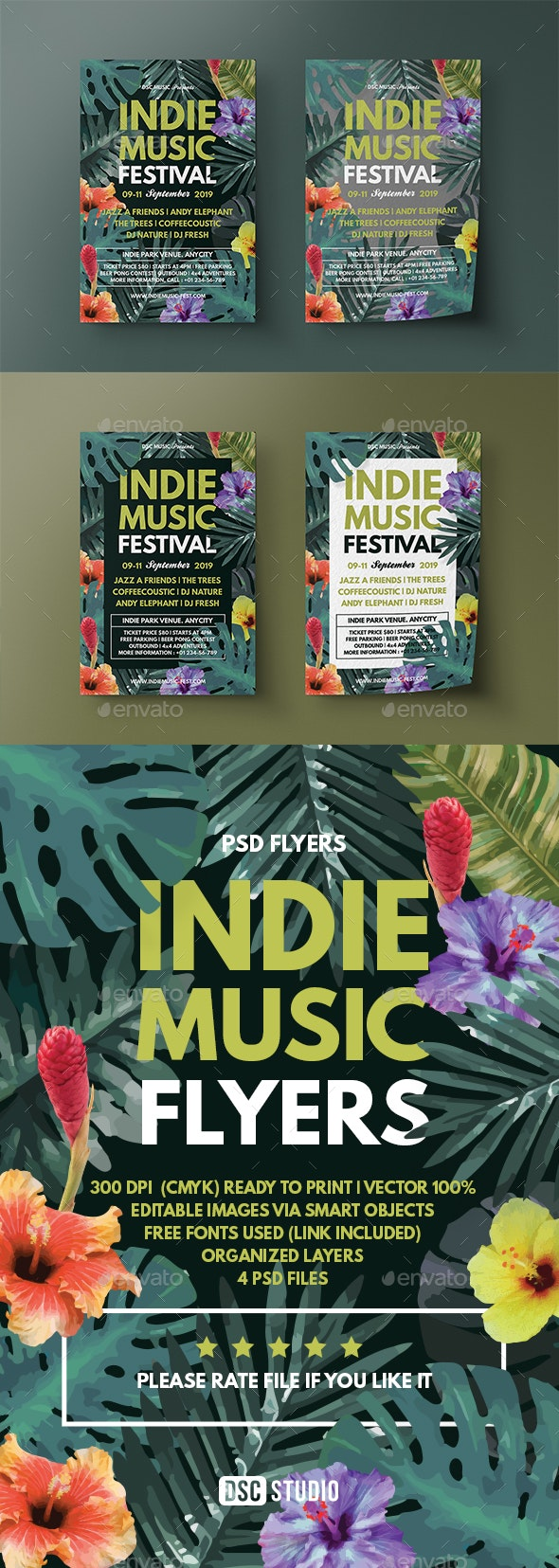 Tropical Music Flyer - Flyers Print Templates