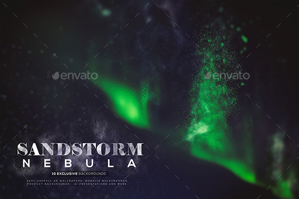 Abstract Sandstorm Nebula Backgrounds - Abstract Backgrounds