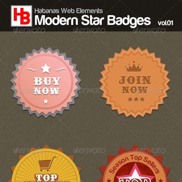 Modern Star Badges