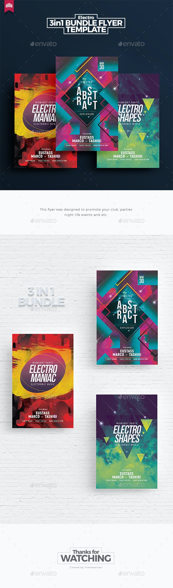 Electro Bundle 5 - Flyer Template - Clubs & Parties Events