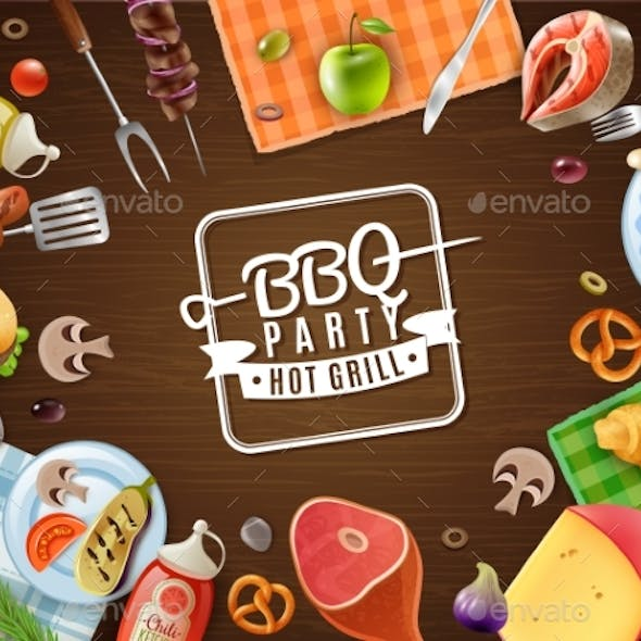 BBQ Party Frame