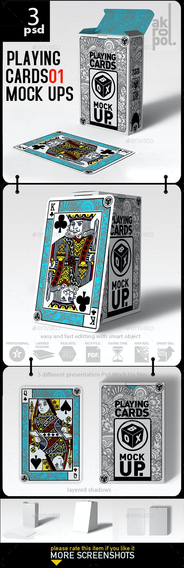 Playing Cards_01 Mock Up - Product Mock-Ups Graphics