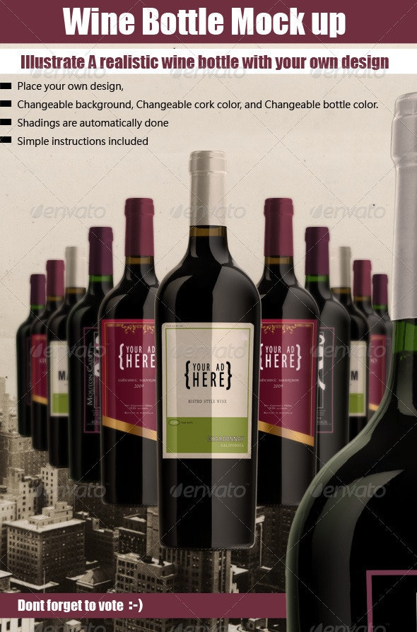 luxury Bottle Mock Up - Food and Drink Packaging