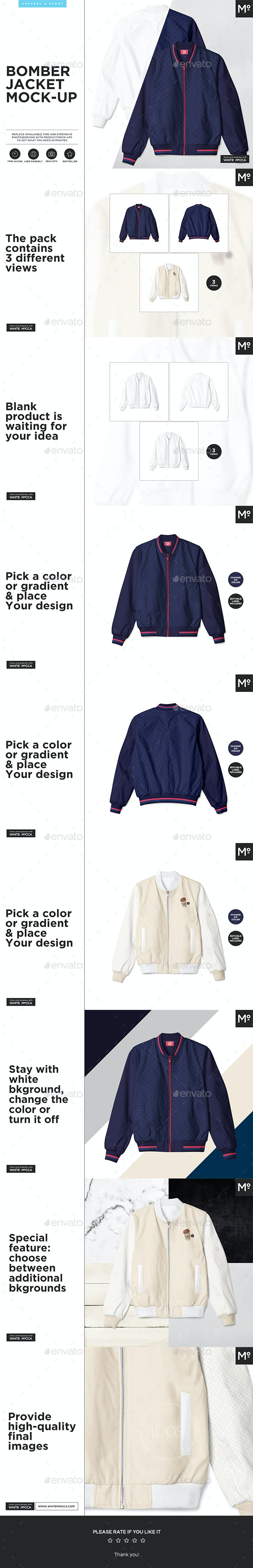 The Bomber Jacket Mock Up By Mocca2go Graphicriver