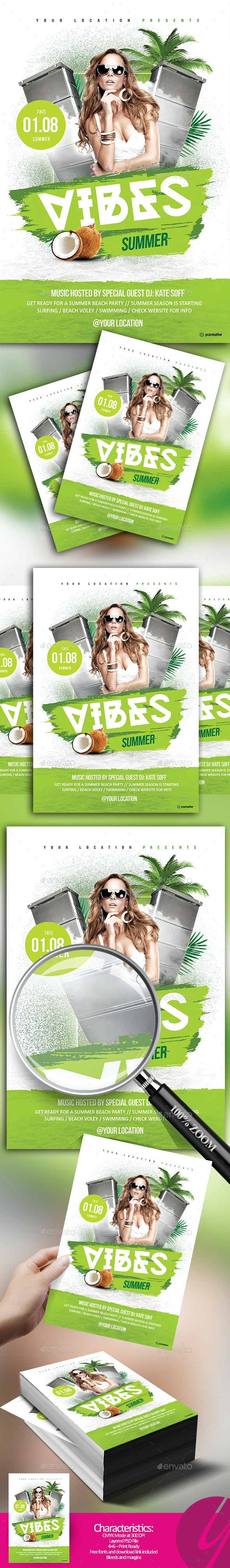Summer Vibes Flyer - Clubs & Parties Events