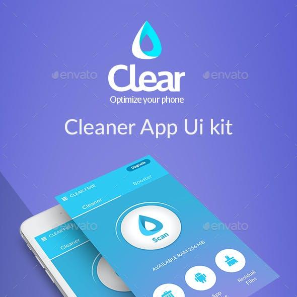Clear - Mobile Cleaner App Ui kit