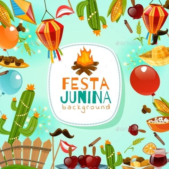 Festa Junina Frame Background - Seasons/Holidays Conceptual