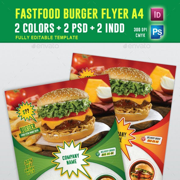 FastFood Burger Fyler Vol 01