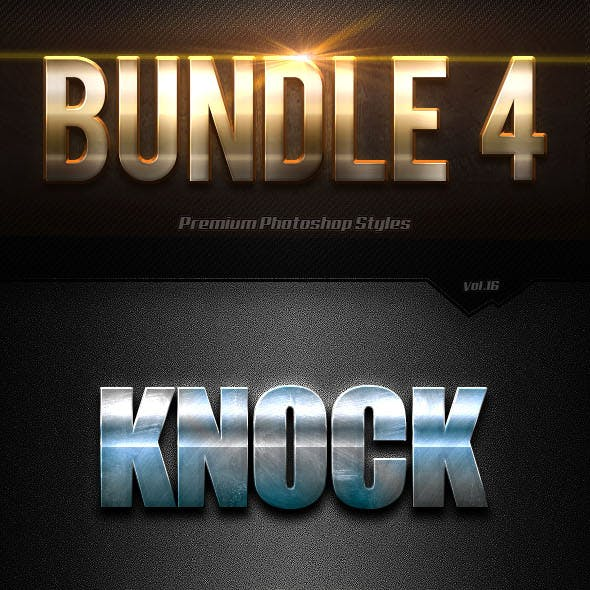 40 Photoshop Text Effects Bundles 4