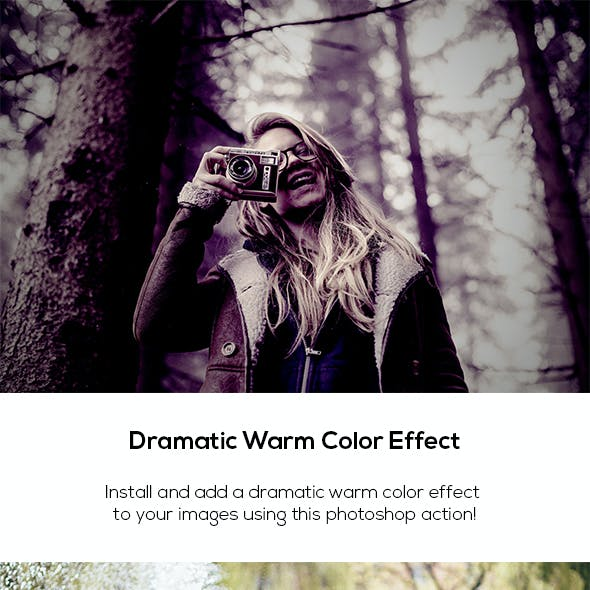 Dramatic Warm Color Effect