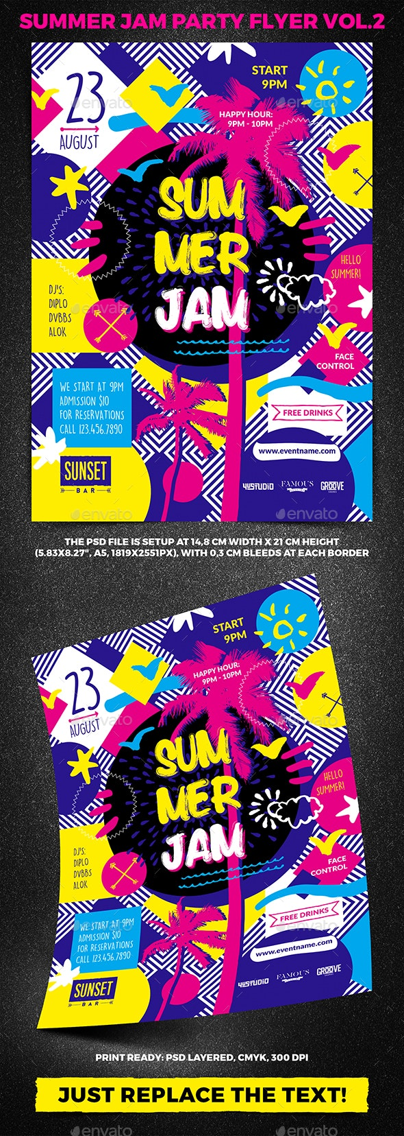 Summer Jam Party Flyer vol.2 - Clubs & Parties Events