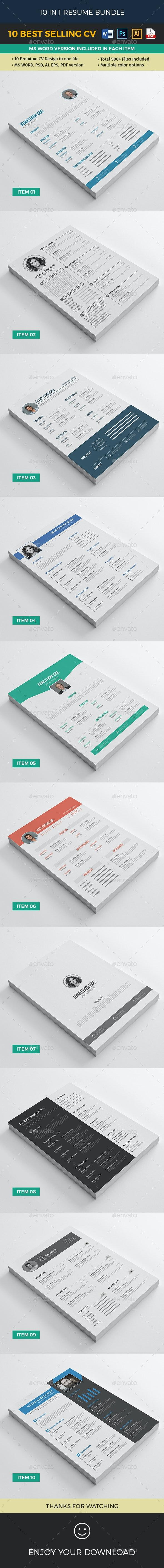Big Resume Bundle - Resumes Stationery