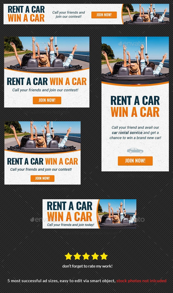 Car Rental Web Banner Ad By Admiral Adictus Graphicriver