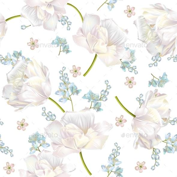 Spring Flower Pattern - Flowers & Plants Nature
