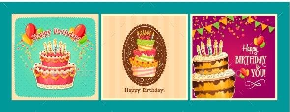 Collection of Vector Cartoon Backgrounds - Birthdays Seasons/Holidays