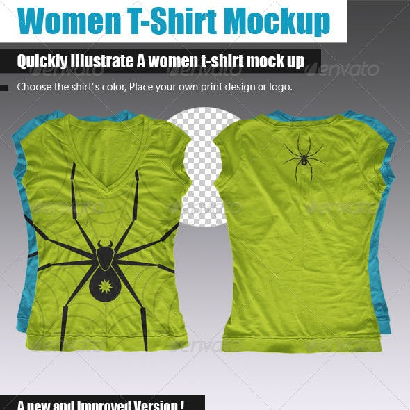 Women Multi-Sided T-Shirt Mock-Up