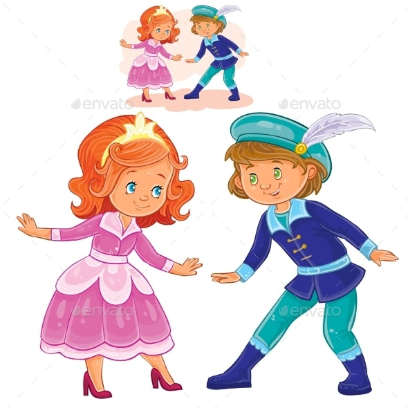 Little Boy and Girl in Costumes - People Characters