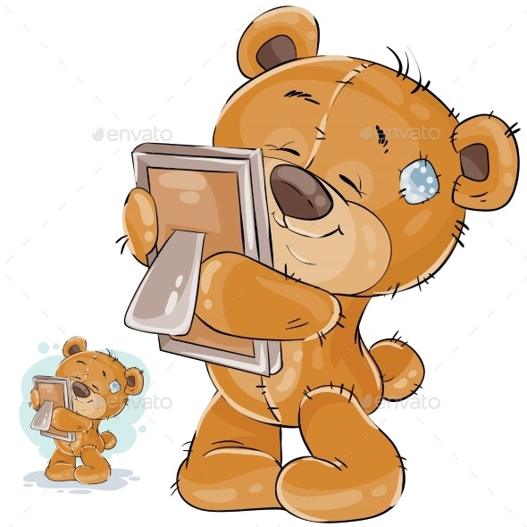 Brown Teddy Bear Misses - Animals Characters