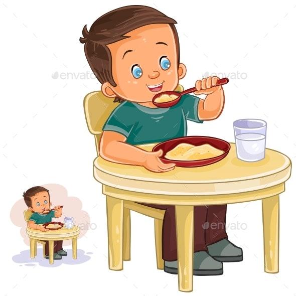 Boy Eating - People Characters
