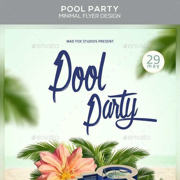 Pool Party Minimal Flyer Design