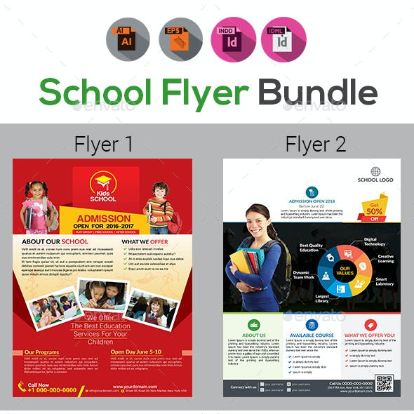 School Flyer Bundle V5