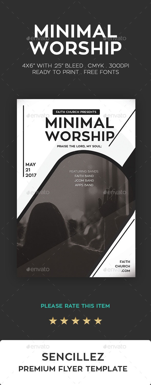 Minimal Worship Flyer - Church Flyers