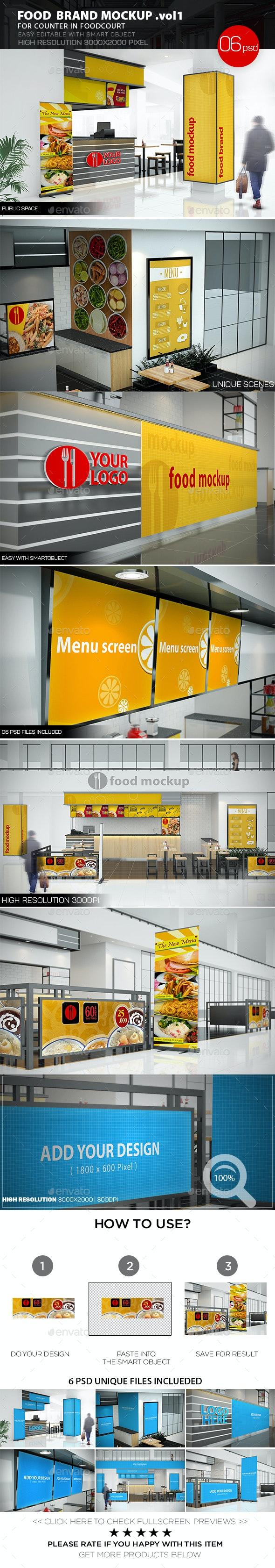 Food Brand Mockup v.1 - Posters Print