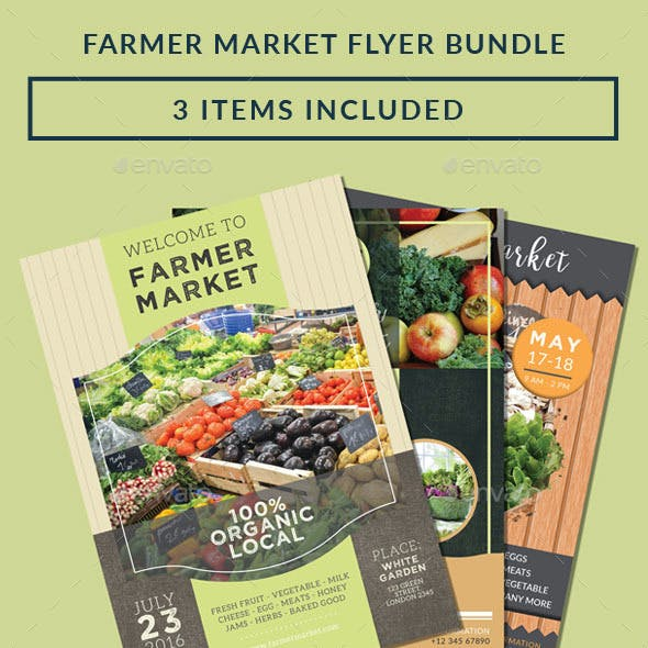 Farmer Market Flyer Bundle