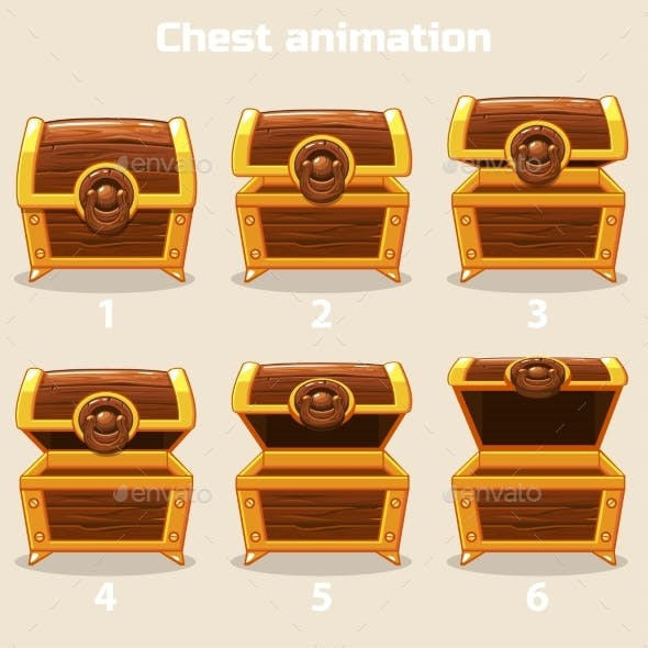 Animation Step By Step Open and Closed Wooden