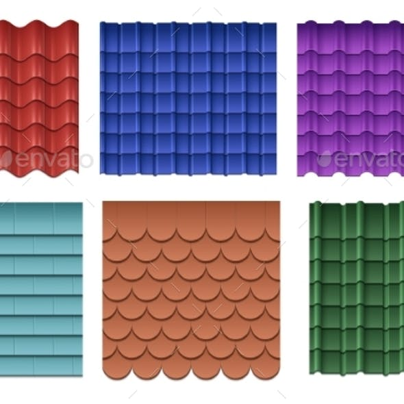 Roofing Materials Vector Set