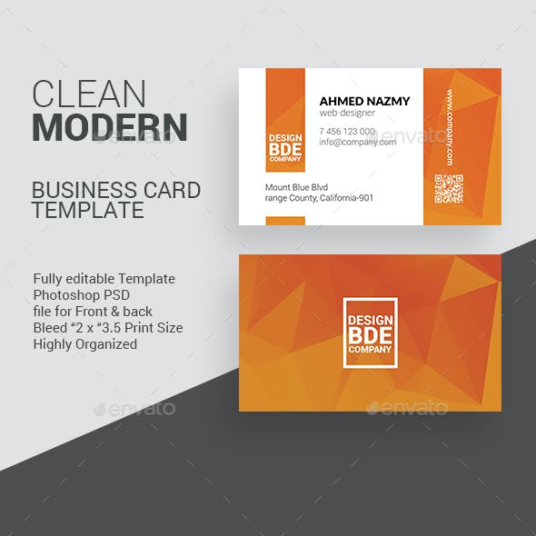Clean Business Card Template 1